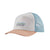 pastel p-6 label layback trucker hat - dam - patagonia - white