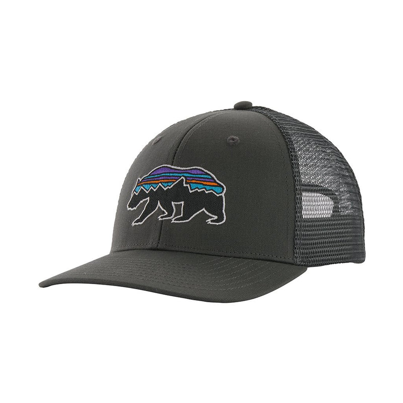 fitz roy bear trucker hat - unisex - forge grey