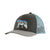 trucker hat illustrated fitz bear - barn - forge grey