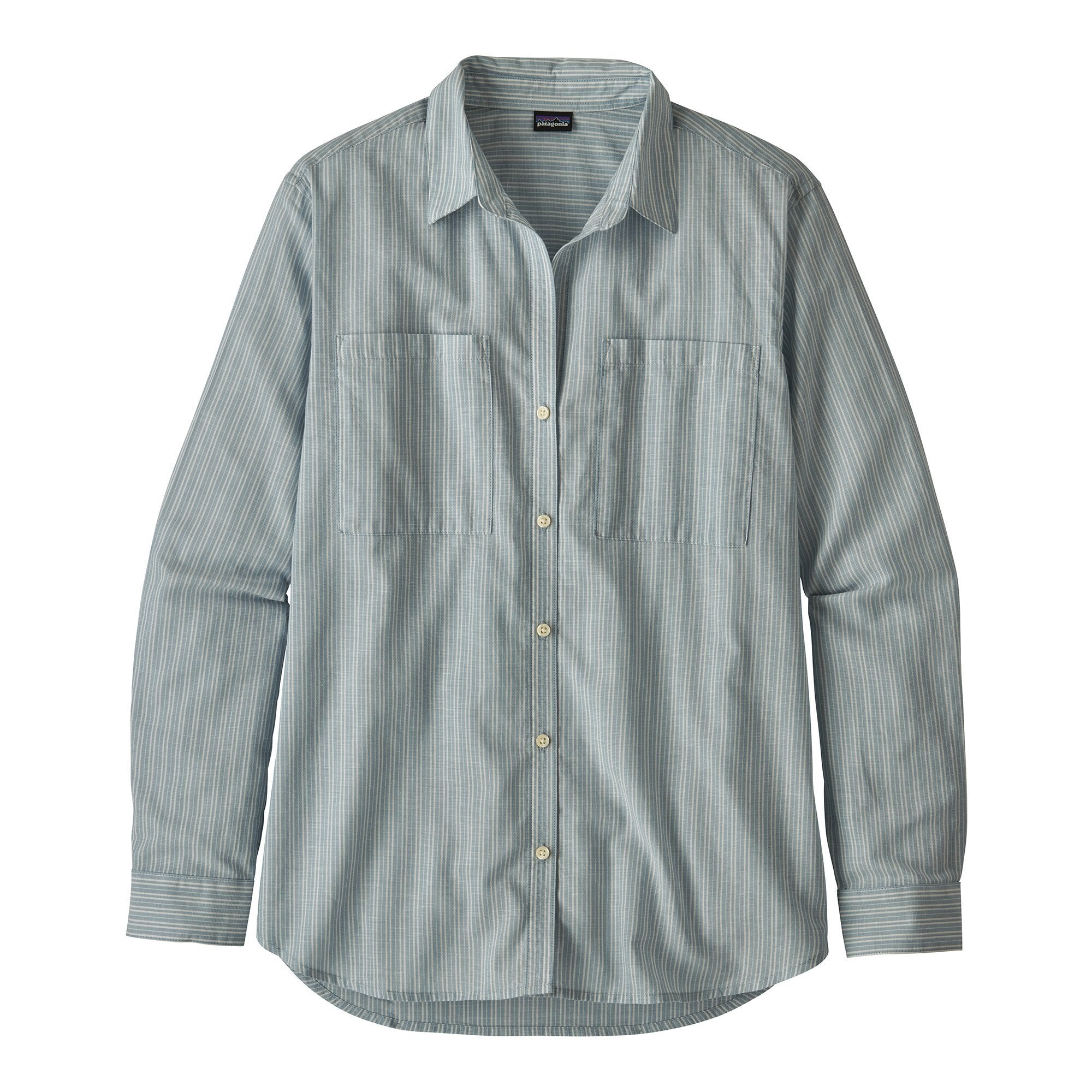 Lightweight A/C Buttondown Shirt - Berlin Blue - Dam - Vindpinad