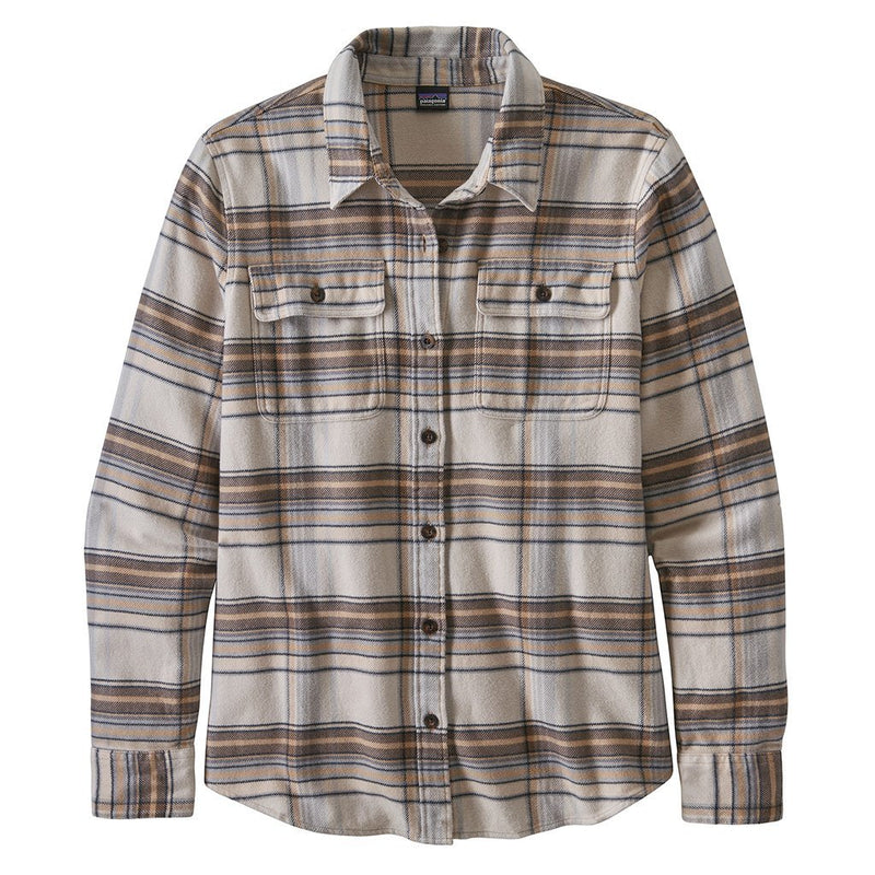 L/S Fjord Flannel Shirt - Cabin Time Birch White - Dam - Vindpinad
