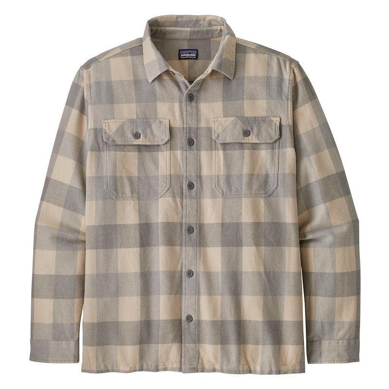 L/S Natural Dye Fjord Flannel Shirt - Blocks El Cap Khaki - Herr - Vindpinad