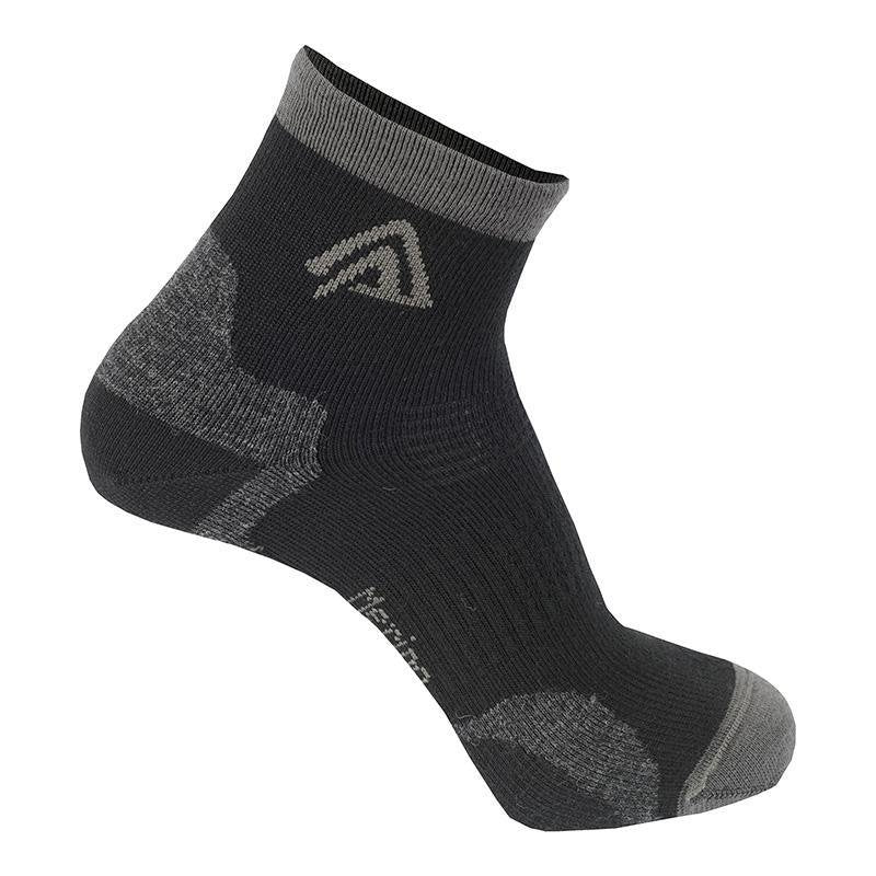 Running Socks 2-pack - Jet Black - Unisex - Vindpinad