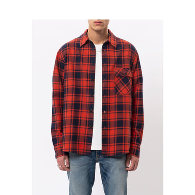 Sten Flannel Check - Red Alert - Herr - Vindpinad