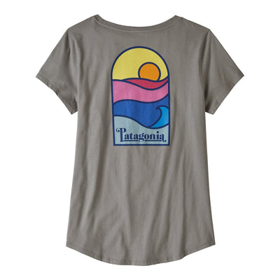 Sunset Sets Organic Scoop T-shirt - Feather Grey - Dam - Vindpinad