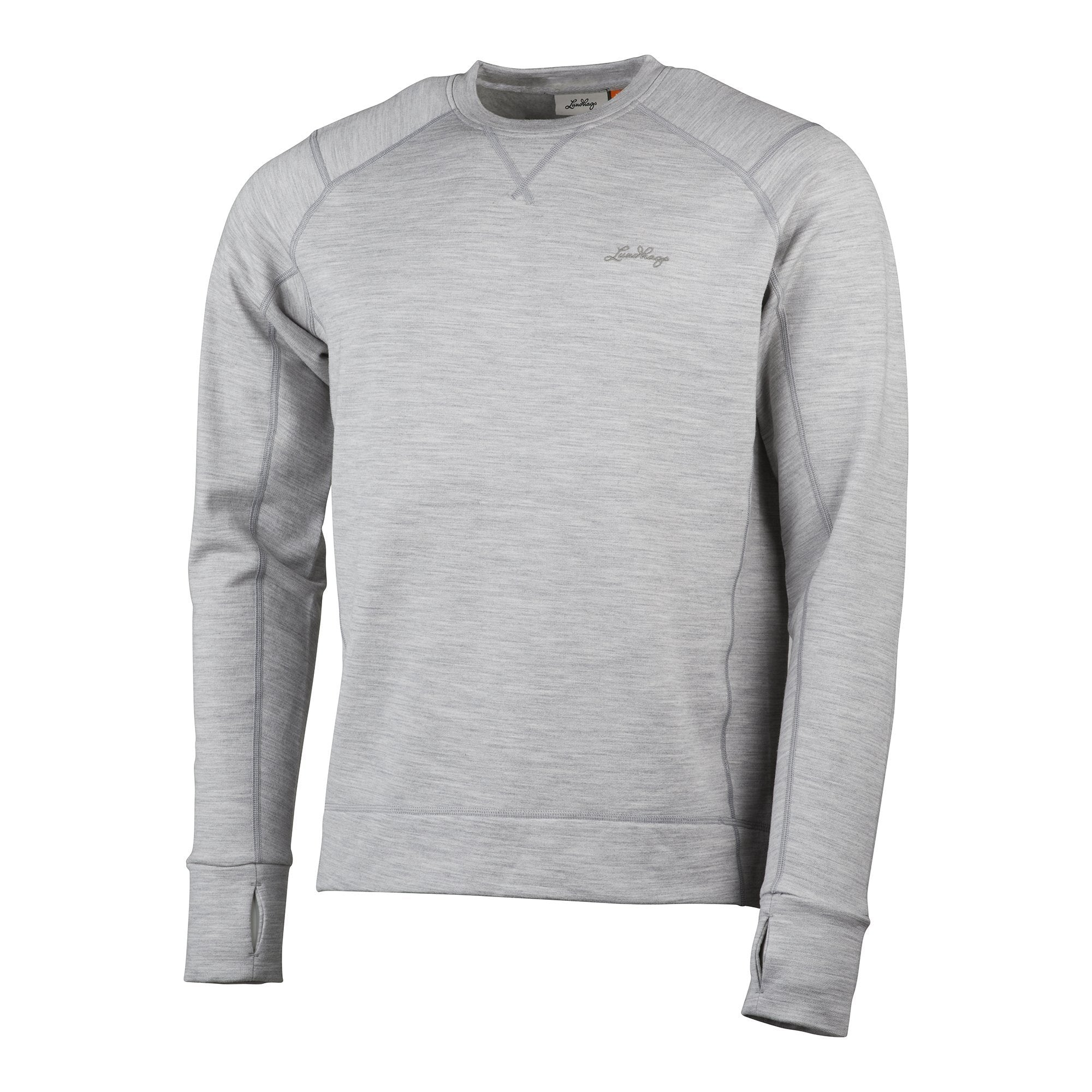 Ullto Merino Crew - Light Grey - Herr - Vindpinad