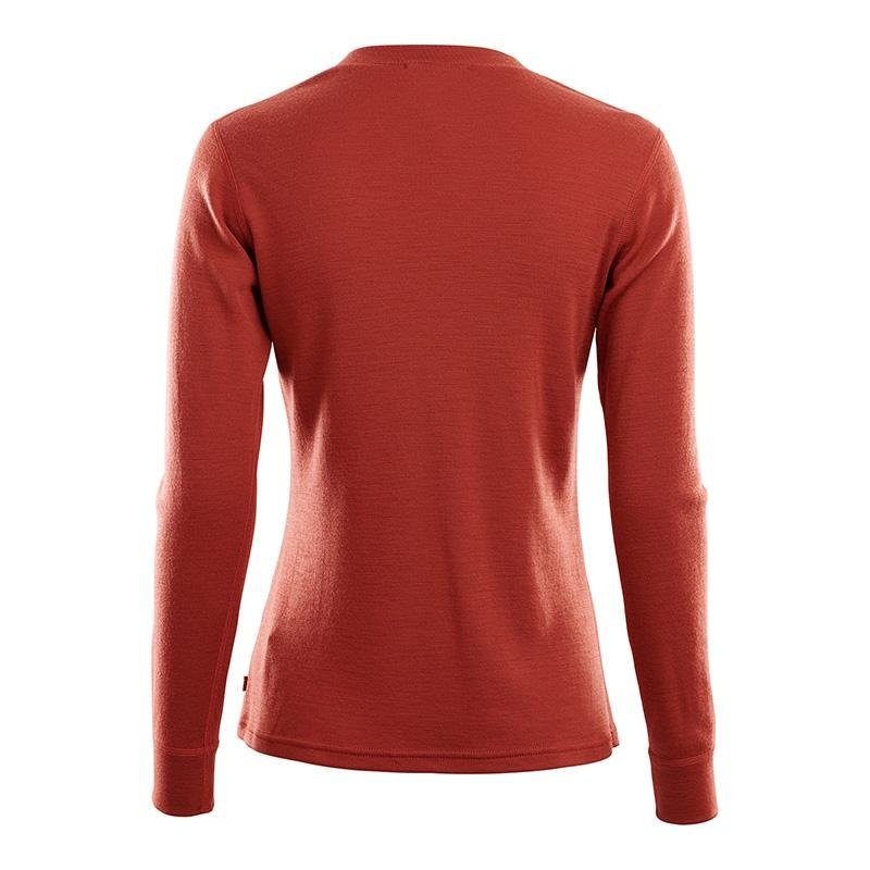 WarmWool Granddad Shirt - Red Ochre - Dam - Vindpinad
