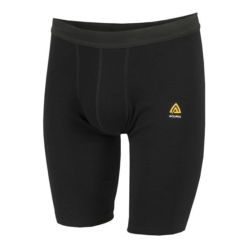 WarmWool Shorts Long - Jet Black - Herr - Vindpinad