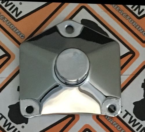 Chrome Pyramid Push Button Starter Solenoid Cover Harley Big Twin 1991-Up 70-330