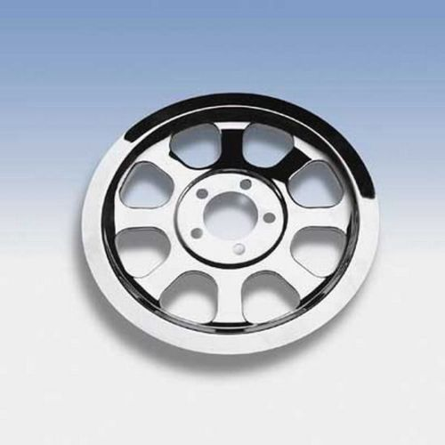 Chrome Pulley Cover Insert for Harley Softail 2000-06 HD# 91347-00 # 25425