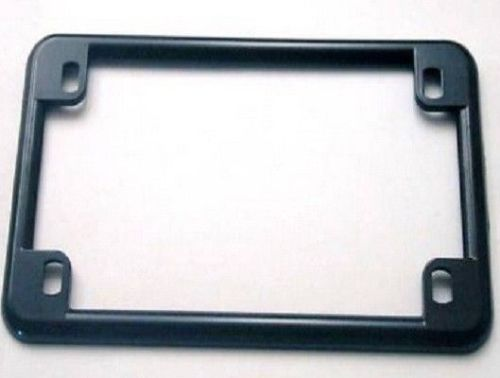 Gloss Black License Frame Harley Customs Sportster Dyna Softail XL FL