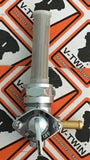 "Chrome CCI/VT 350403 Chrome Petcock Fuel Valve Right Side 1/4"" Harley 75-06"