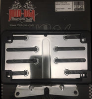 CHROME STEEL LICENSE PLATE BRACKET MOUNT & Black FRAME H-D TOURING 09-UP #13126