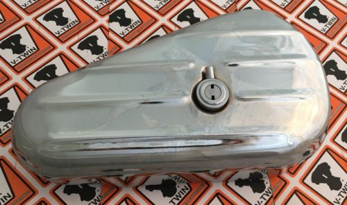 Oval Left Side Chrome Locking Tool Box w/ Keys for Harleys Customs 50-0605