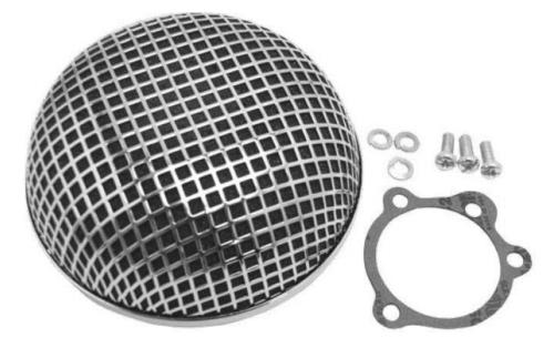 Chrome Round Mesh Air Cleaner Filter Harley Keihin CV Carb Softail Dyna XL12-113