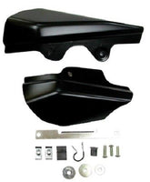 Mid-USA 26307 Black Mid Frame Heat Deflectors Harley Touring FLT 01-07 58022-07A