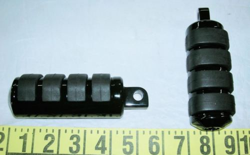 Black ISO Anti Vibe Passenger Foot Pegs Harley Sportster XL Softail Dyna Customs