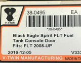 Black LIVE TO RIDE Touring Fuel Door & Pushbutton Release FL 08-18 38-0495 80687
