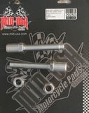 "Chrome Adjustable Rear Shock Lowering Kit 00-16 Softail Models Lowers 2"" 29262"