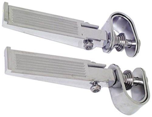 "Universal Chrome Engine Guard Highway Foot Pegs 1"" or 1-1/4"" Clamp On Harley"