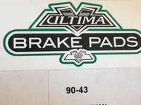 Ultima Premium Made with Kevlar Brake Pads Front 08-10 Softail 08-11 Dyna 90-43