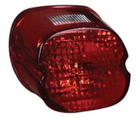 Red Black Out LayDown Taillight Lens Most Harley 73-98 #09818