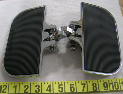CHROME Mini Floorboards Male Mount Harley Softail Dyna Sportster XL Custom 25514