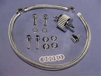 SIFTON SS Braided Hose Breather Kit for 1993-19 Harley EVO Twin Cam 91-Up XL