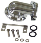 MID-USA CHROME OIL FILTER MOUNT TWIN CAM HARLEY # 26321-99A MU 87152