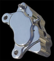 NEW POLISHED ULTIMA FOUR PISTON PERFORMANCE BRAKE CALIPER FRONT OR REAR 90-675
