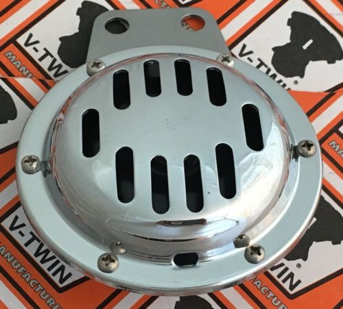 "Custom Chrome Mini chrome 4"" Horn 12V Harley Customs Metric #19892"