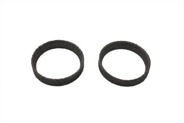 (2) Graphite Tapered Exhaust Gaskets For Harley Touring Softail Twin Cam EVO XL