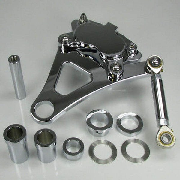 Ultima Polished 4 Piston Caliper & Front Bracket Kit for 1984-1999 Harley Springer