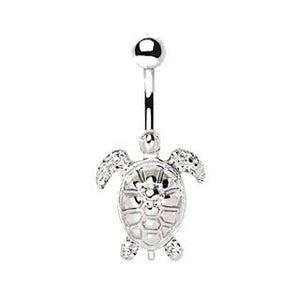 316L Stainless Steel Sea Turtle Navel Ring - We Wear Our HBCUs