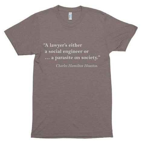 Howard University School of Law  Charles Hamilton Houston  Vintage Slim Fit Short Sleeve T-shirt - We Wear Our HBCUs