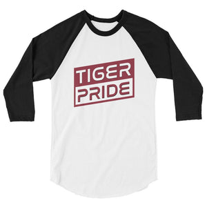 Tiger Pride Texas Southern University 3/4 Sleeve Raglan Shirt - We Wear Our HBCUs