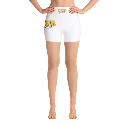 Tiger Pride Grambling State University  GSU HBCU Yoga Shorts With Black Stitches - We Wear Our HBCUs