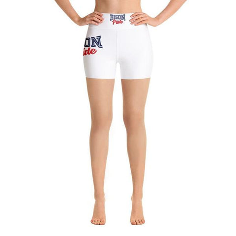 Howard University Bison Pride High Waistband HBCU Yoga Shorts - We Wear Our HBCUs