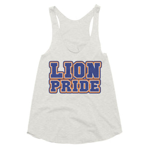 Lion Pride | Lincoln University | LU Women's Tri-Blend Racerback Tank - We Wear Our HBCUs