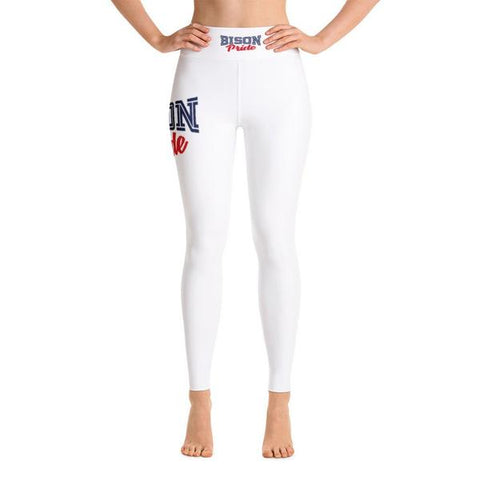 Howard University Bison Pride Capri Leggings With Black Stitches - We Wear Our HBCUs