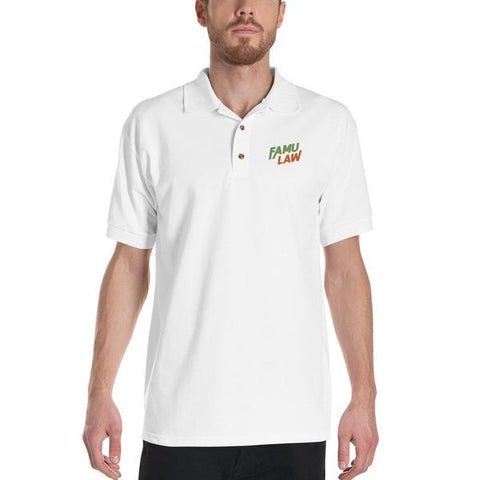 FAMU Law Embroidered Polo Shirt | HBCU Law School T-Shirt - We Wear Our HBCUs