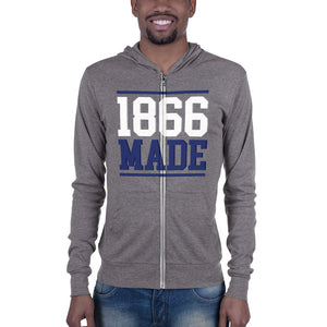 Lincoln University (MO) 1866 Made Unisex Lightweight Zip Up Hoodie - men size up - We Wear Our HBCUs