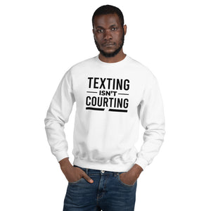 Texting Isn't Courting Champion Unisex Sweatshirt - We Wear Our HBCUs