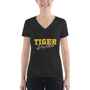 Tiger Pride  Grambling State University  Women's Fashion Deep V-neck Tee - We Wear Our HBCUs