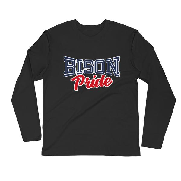Howard University Bison Pride Long Sleeve Fitted Crew Neck College T-Shirt - We Wear Our HBCUs