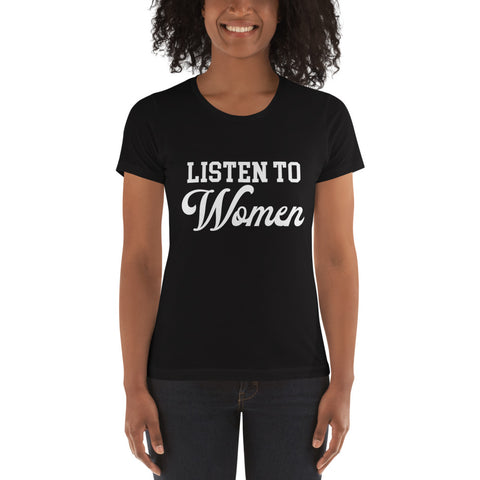 Listen To Women Women's Boyfriend Tee - We Wear Our HBCUs