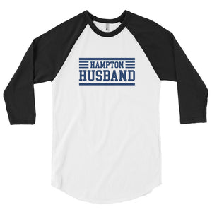 Hampton University Hampton Husband 3/4 Sleeve Raglan Shirt - We Wear Our HBCUs