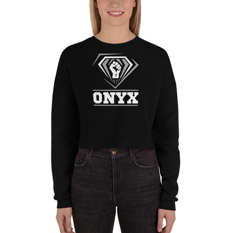 ONYX Fist | Fall Fleece Crop Sweatshirt - We Wear Our HBCUs