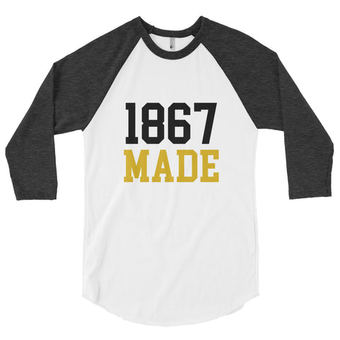 Alabama State University 1867 Made Unisex Baseball Shirt - We Wear Our HBCUs