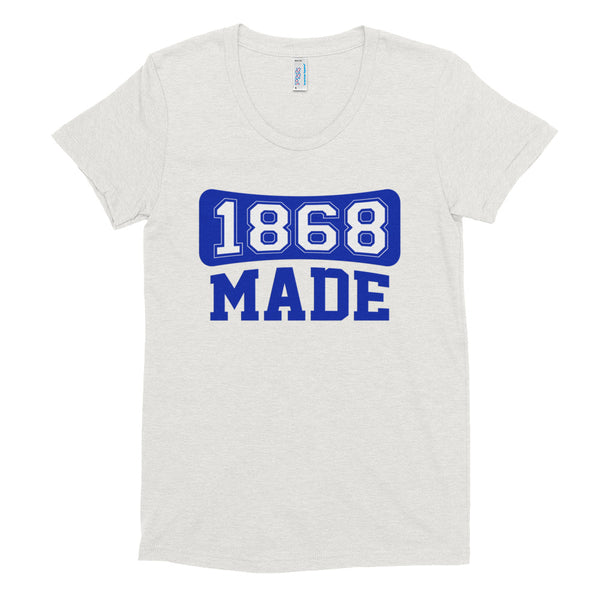 Hampton University 1868 Made Women's Soft Triblend T-Shirt - We Wear Our HBCUs